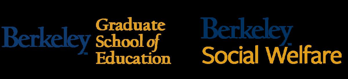 logos of UC Berkeley's Graduate School of Education and School of Social Welfare