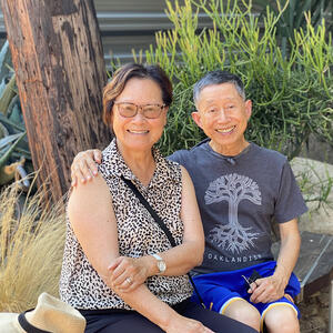 Art Hom with his wife